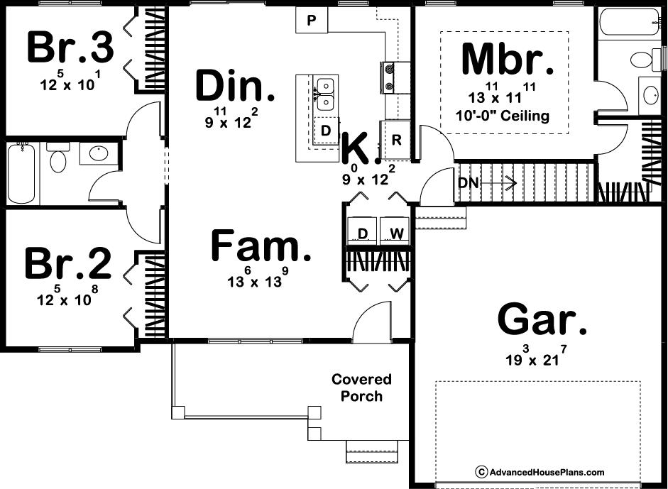 Daniels Floor Plan Artwork