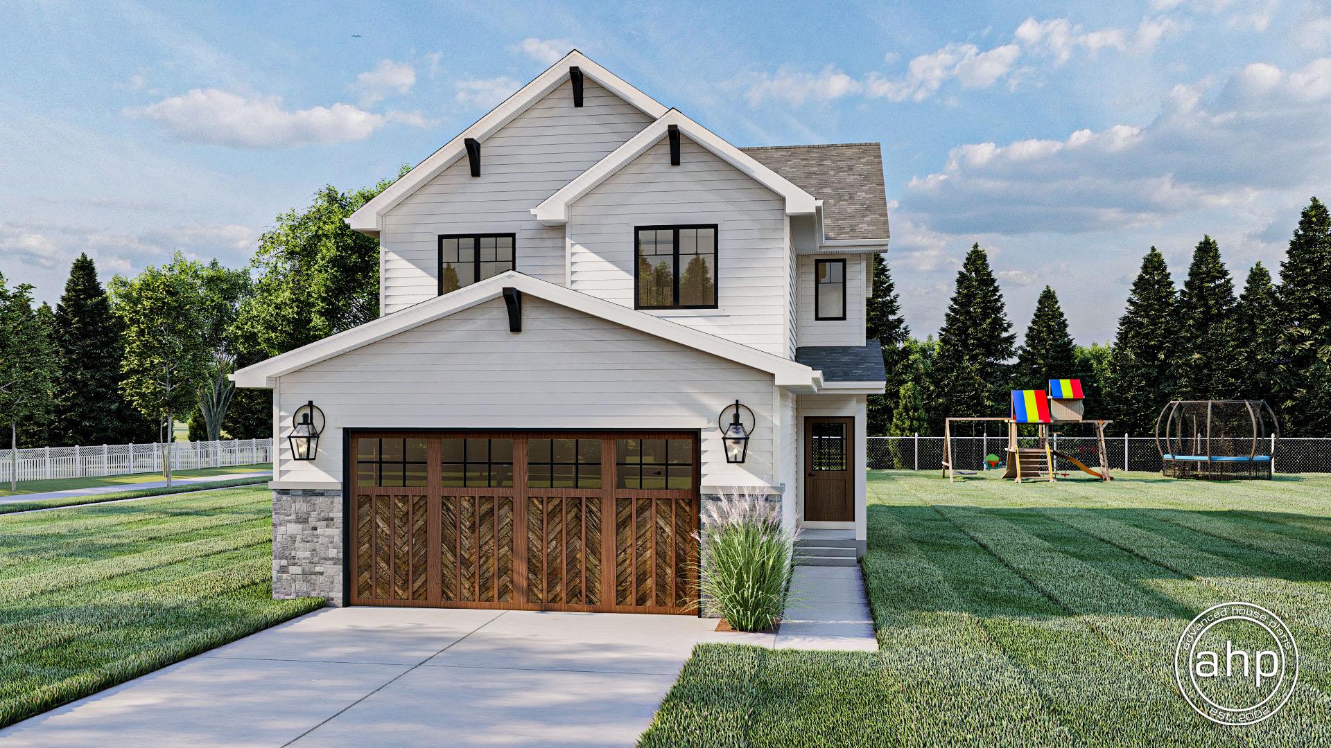 Modern Farmhouse 2 Story House Plan - Cianna