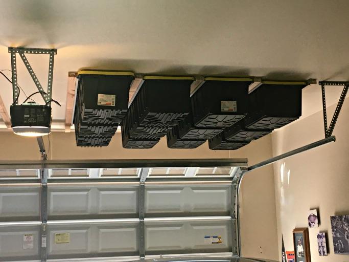 Above Garage Door Storage Tutorial