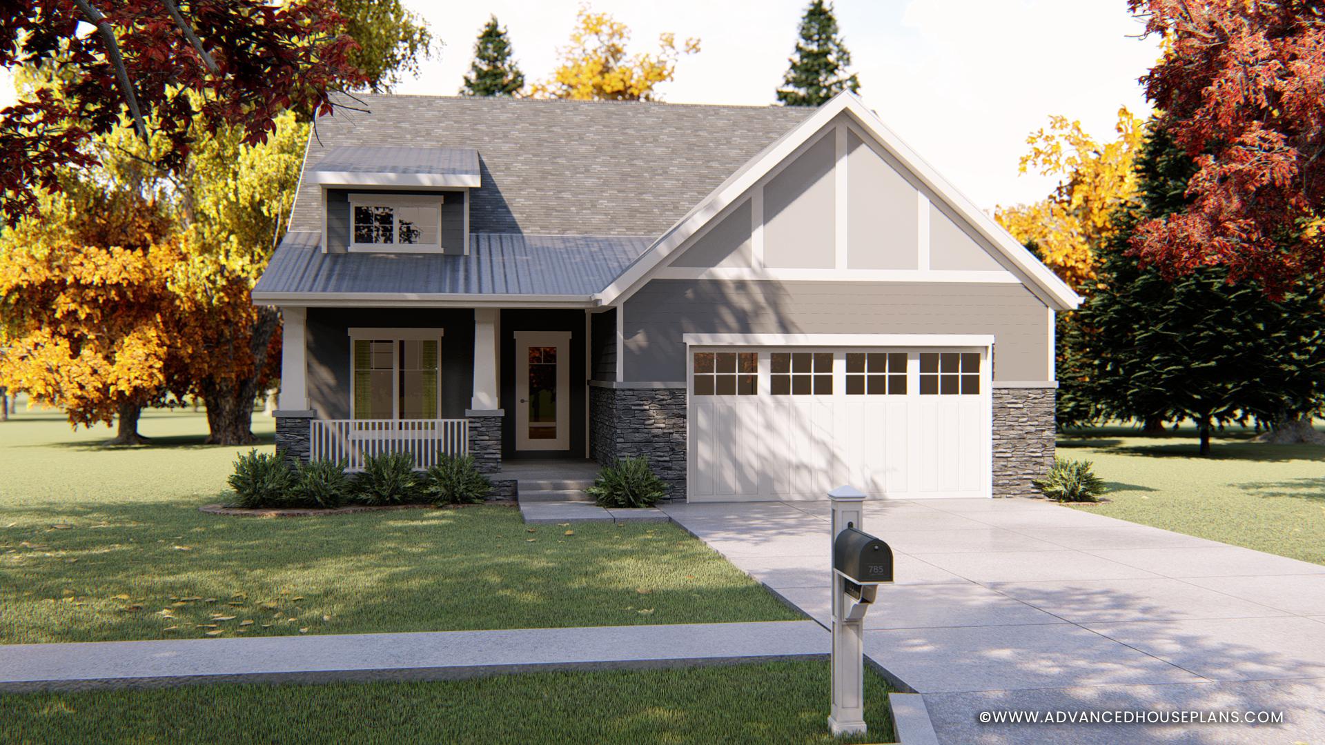 1 Story Goodman House Plan