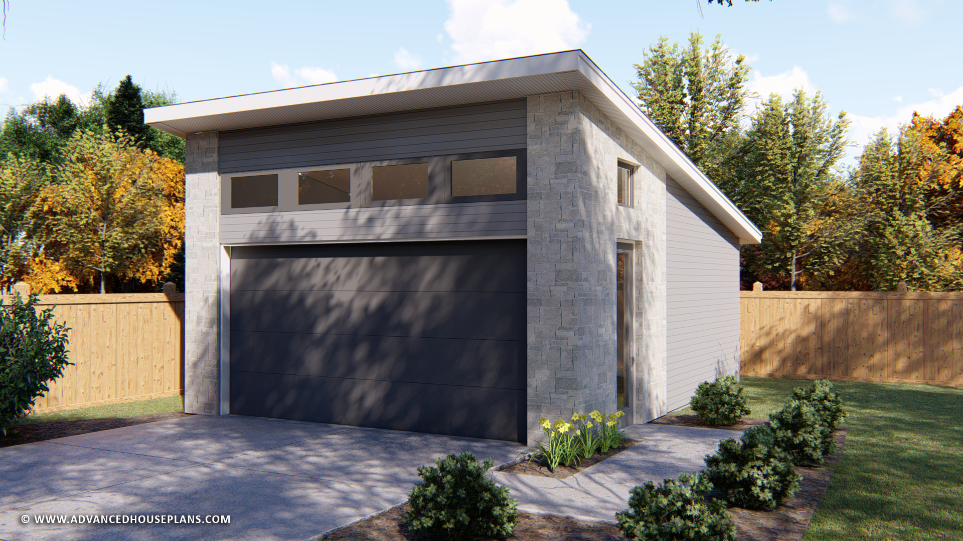 2 Car Garage Plan | Pelini