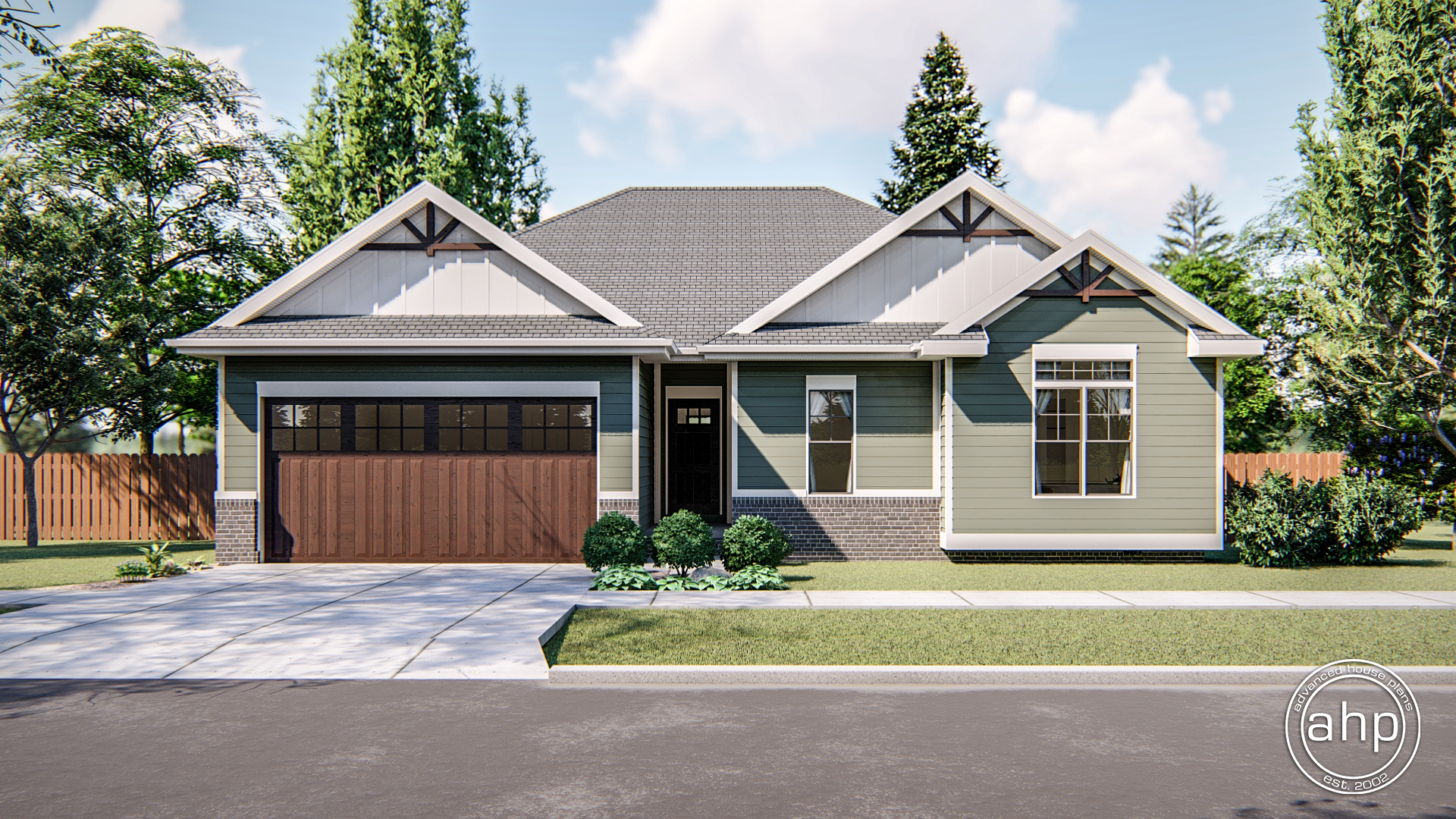 Craftsman Style Ranch Plan - Springhill