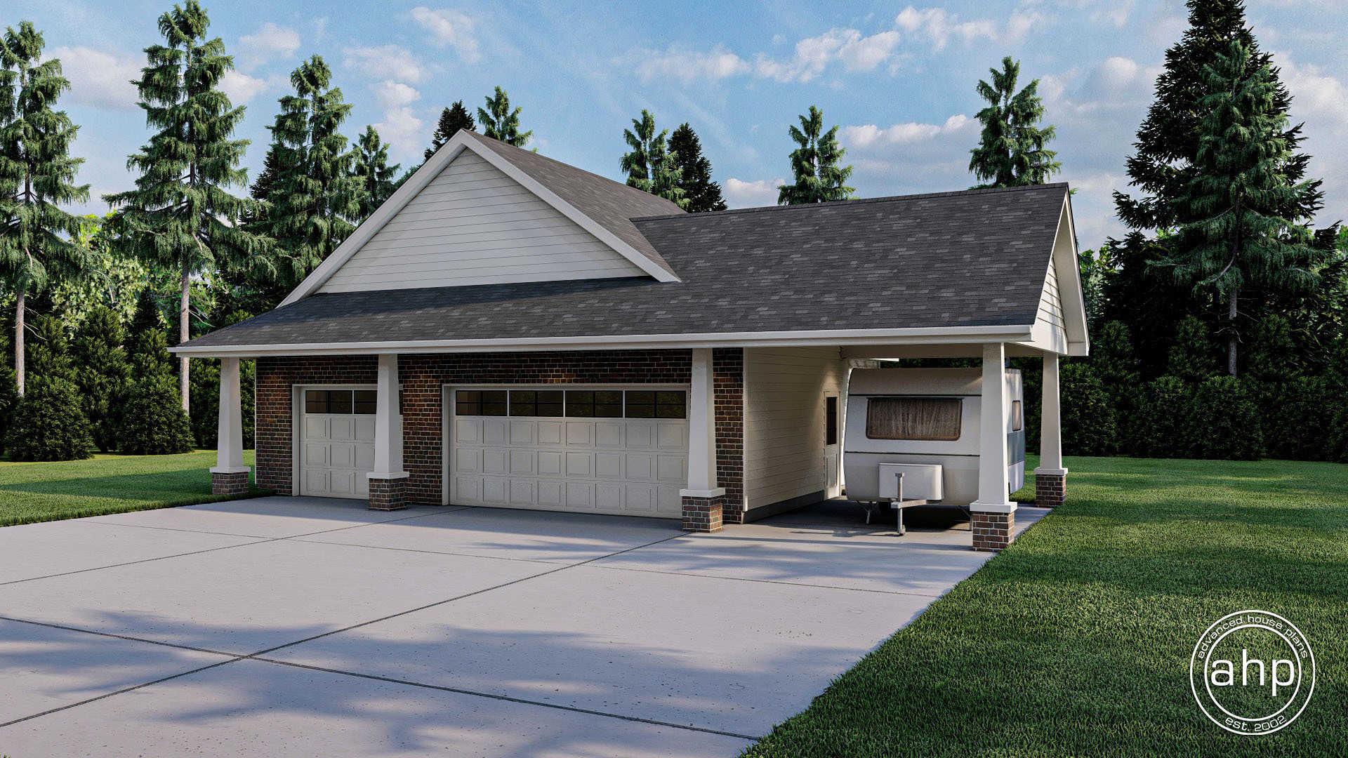 Craftsman Style Garage Plan Armstrong