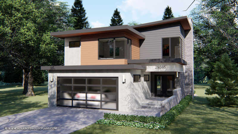2 Story Contemporary House Plan Commonwealth