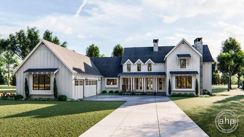 1 1 2 Story Modern Farmhouse House Plan Summerfield