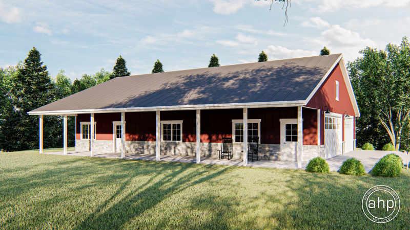 Pole Barn Post Frame Plan Reagan, Can You Build A Pole Barn House With Basement
