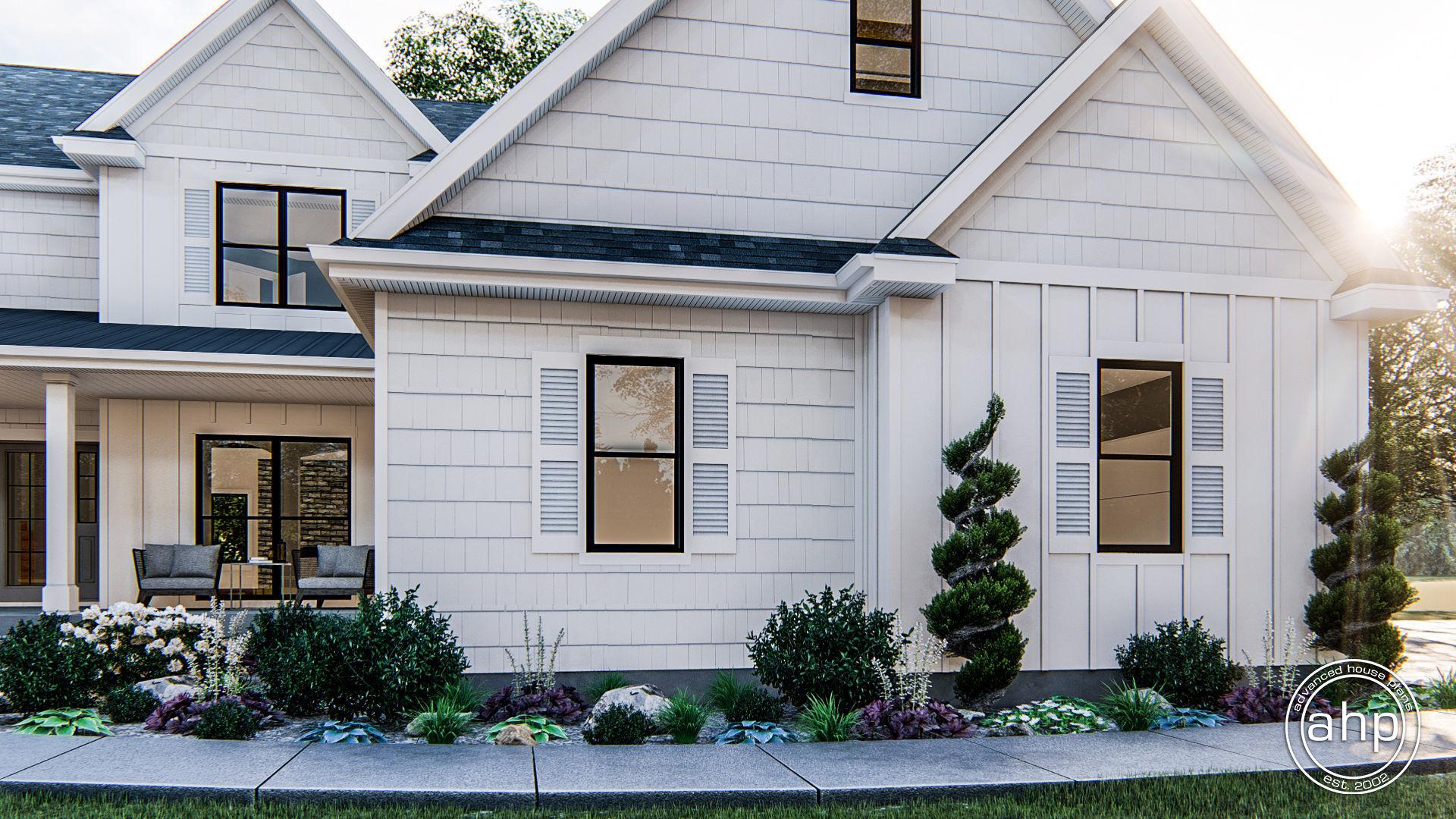 1.5 Story Modern Farmhouse House Plan   Pine Valley