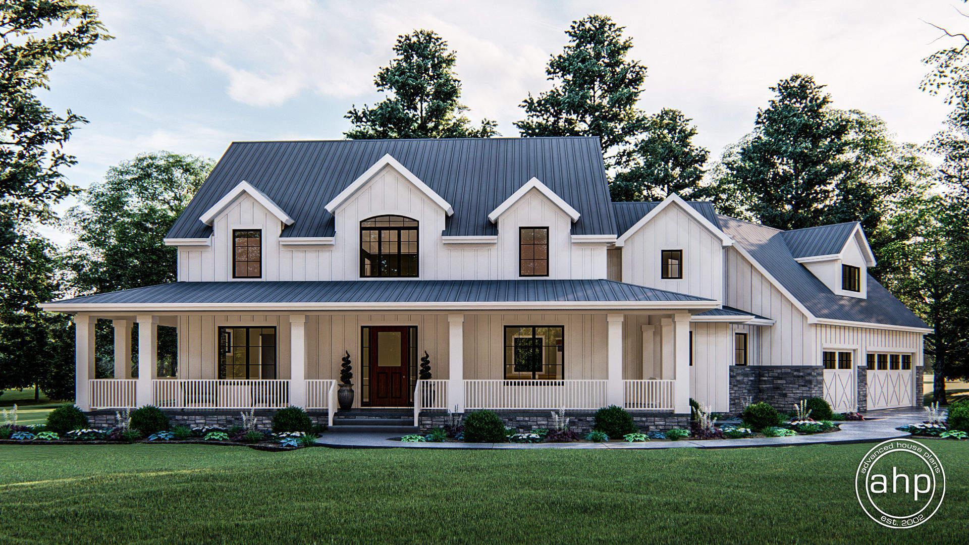 2 Story Modern Farmhouse House Plan | Melrose