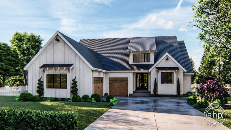 1 Story Modern Farmhouse House Plan Sanibel