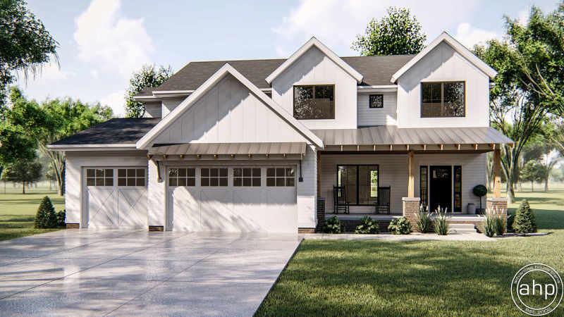 2 Story Modern Farmhouse House Plan Sherman Oaks