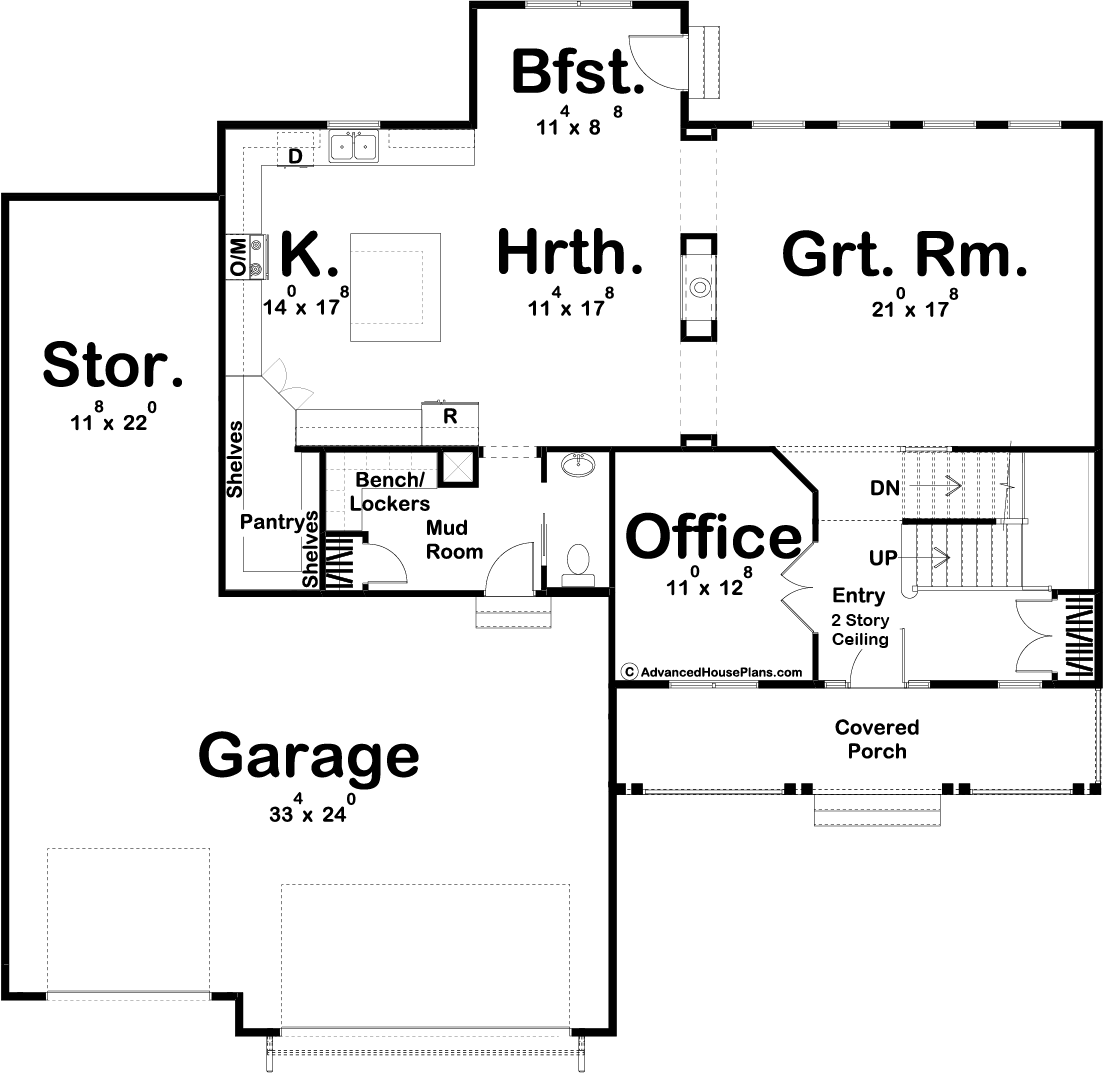 2 Story Modern Farmhouse Plan Anderson
