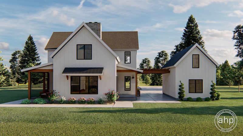 2 Story Modern Farmhouse Style House Plan Waco Flats
