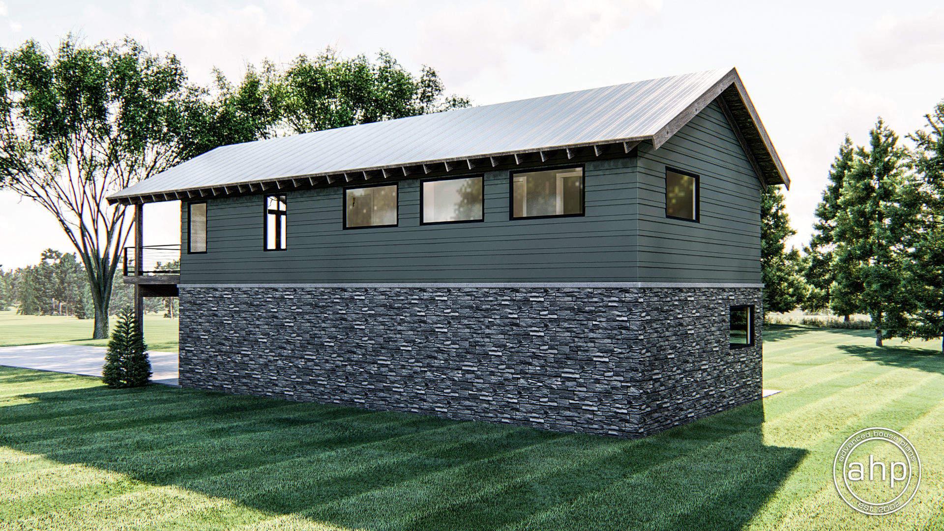 Modern Carriage House Plan | Millard Heights