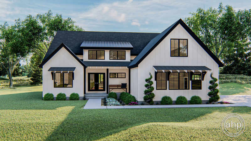 1 Story Modern Farmhouse Style House Plan | Sutton Farm