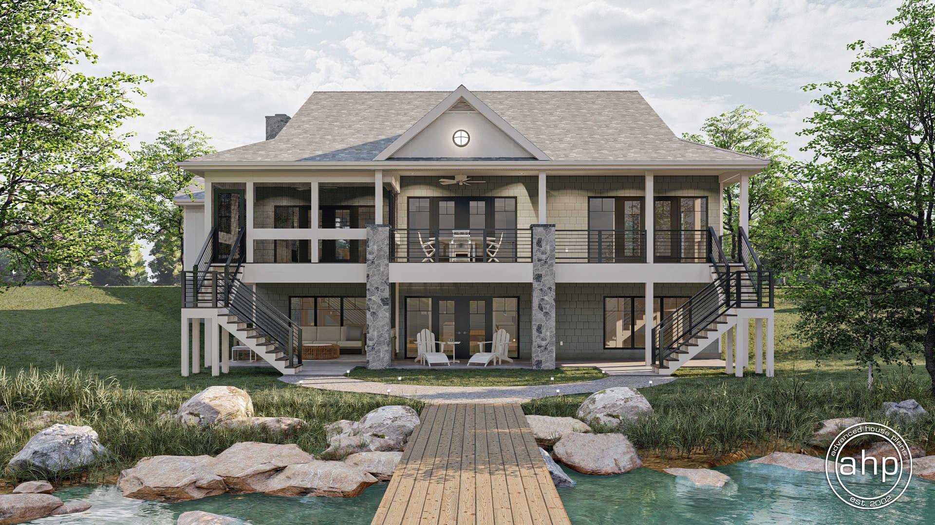 20 Story Lake House Plan   Bull Lake